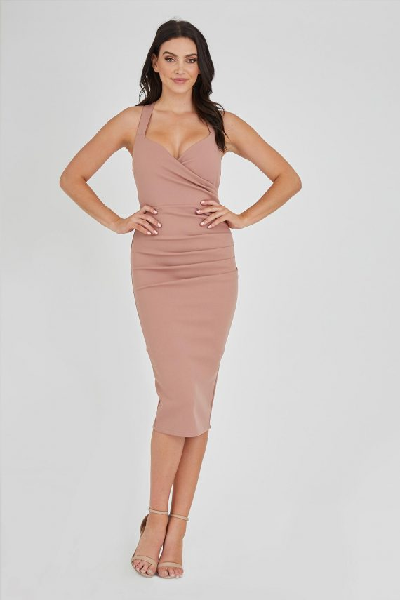 Aces Dress Ladies Dress Colour is Nude