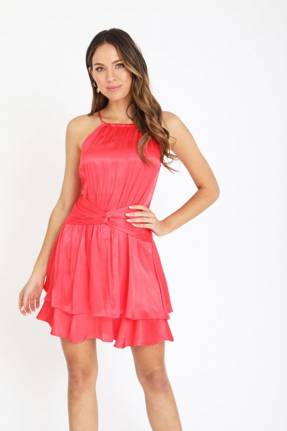 Esmerelda Dress Ladies Dress Colour is Melon
