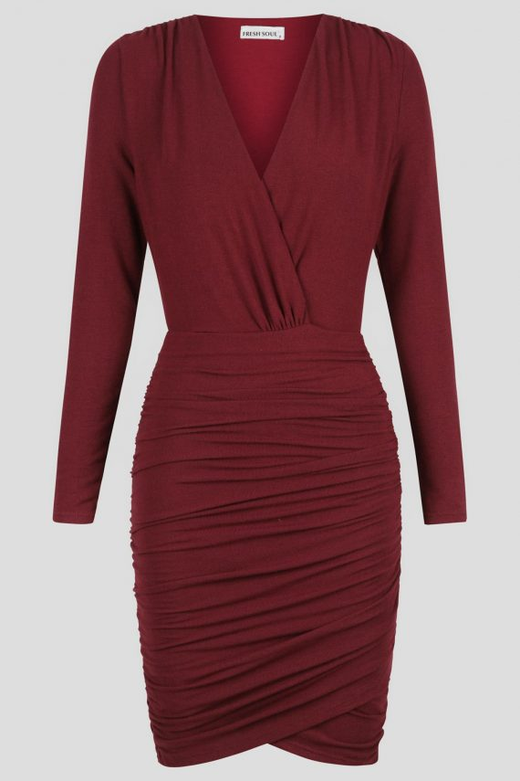 Pilot Dress Ladies Dress Colour is Burgandy