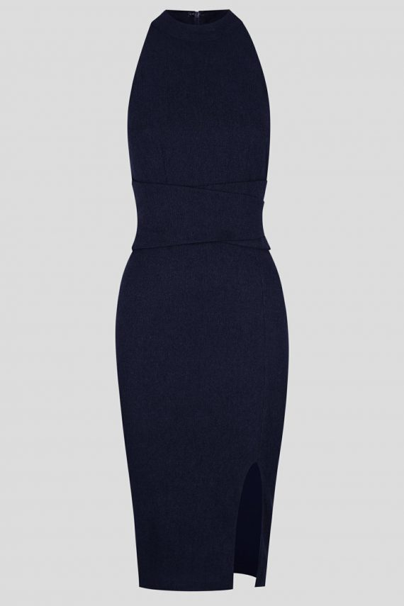 Clues Dress Ladies Dress Colour is Navy