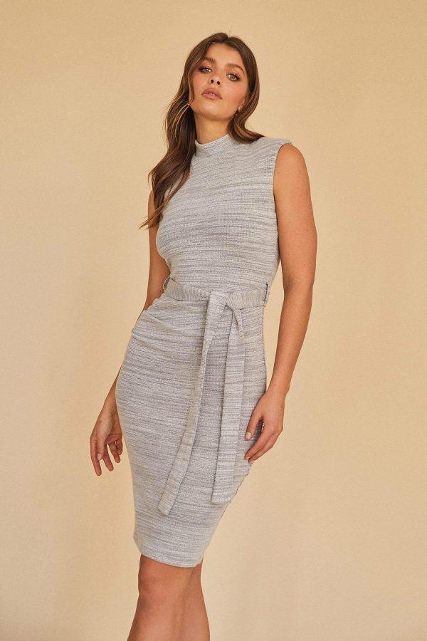 Amnesty Dress Ladies Dress Colour is Grey Marle