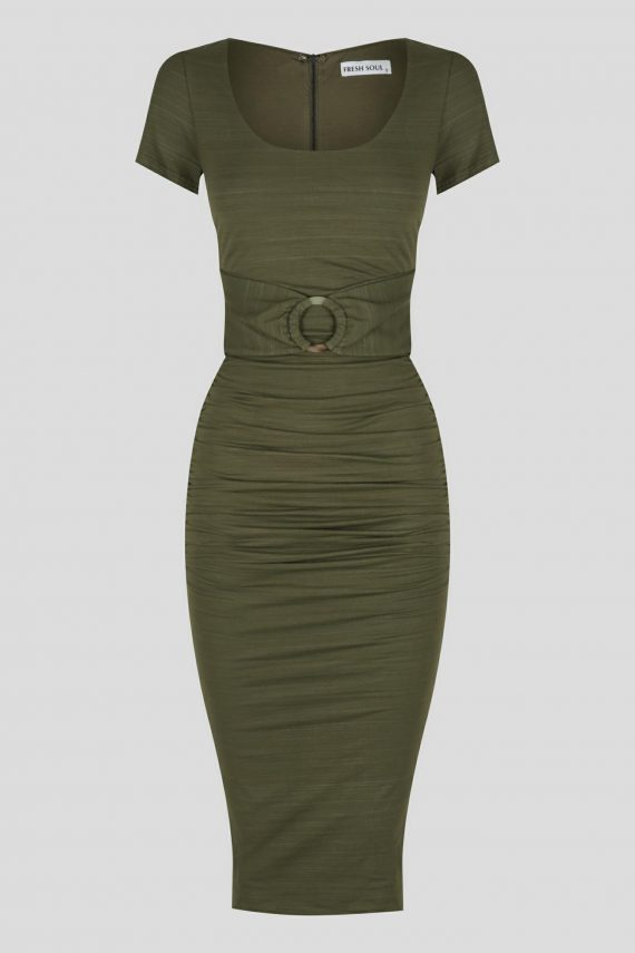 Olinda Dress Ladies Dress Colour is Khaki
