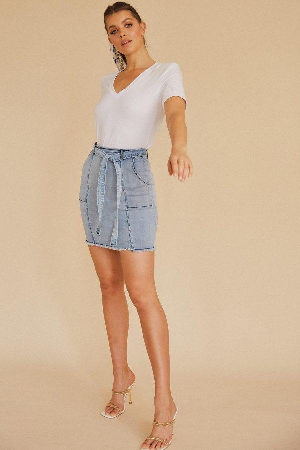 Sombrio Denim Skirt Ladies Skirt Colour is Lblu