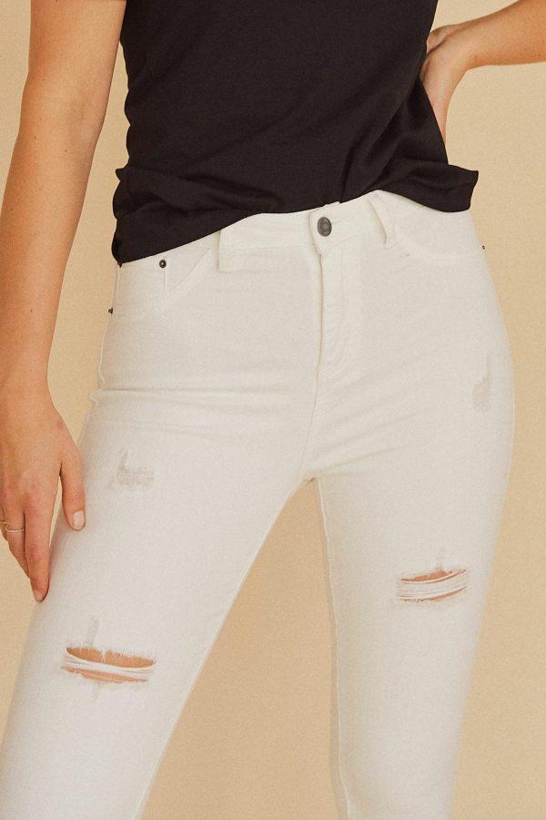 Alto Jean Ladies Jeans Colour is White