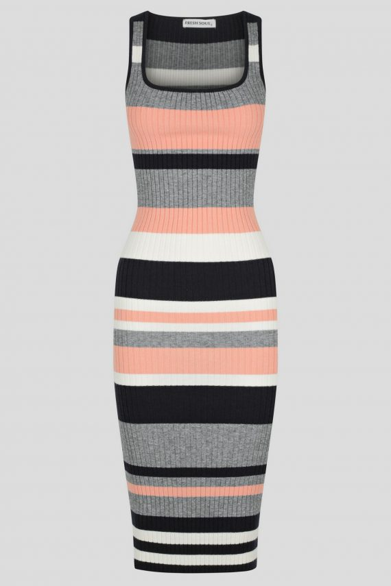 Itoro Knit Dress Ladies Dress Colour is Multi Stripe