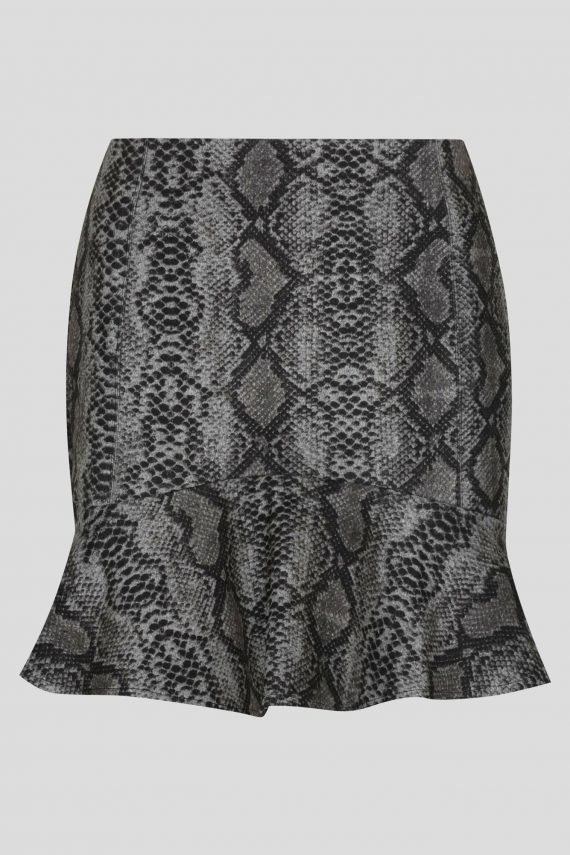 Forever Skirt Ladies Skirt Colour is Grey Nake Print