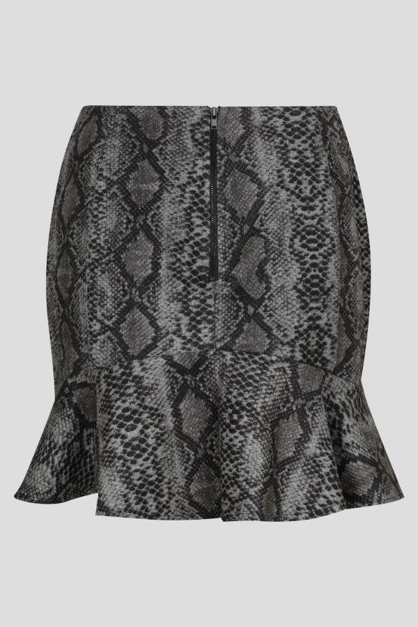 Forever Skirt Ladies Skirt Colour is Grey Nake Print