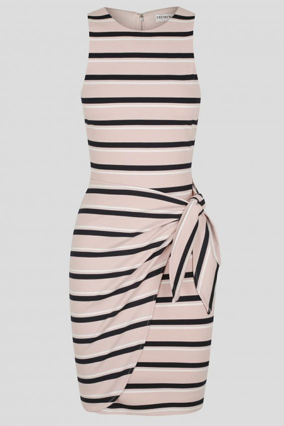 Carrera Dress Ladies Dress Colour is Pink/navy Stripe
