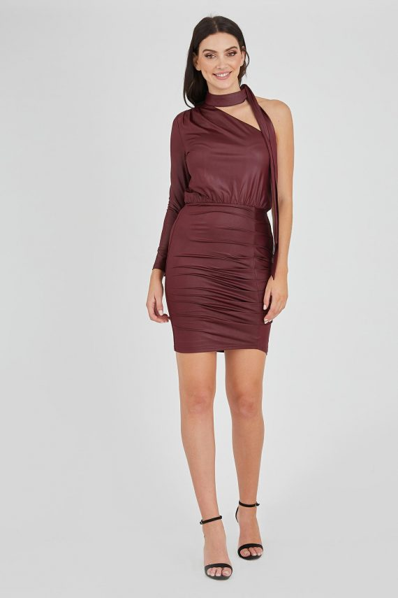 Quantum Dress Ladies Dress Colour is Burgandy