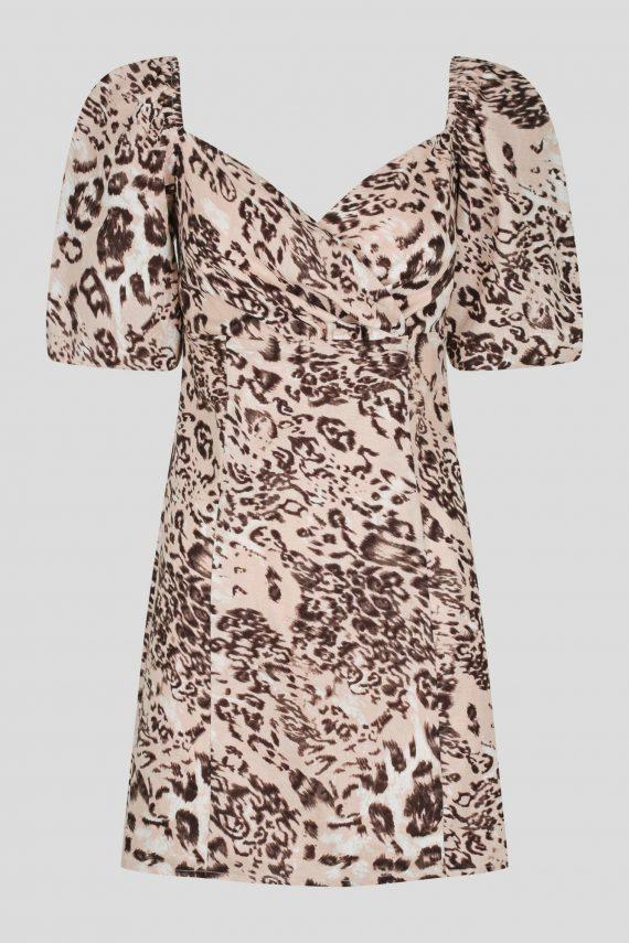 Maraba Dress Ladies Dress Colour is Blush Leopard Dress