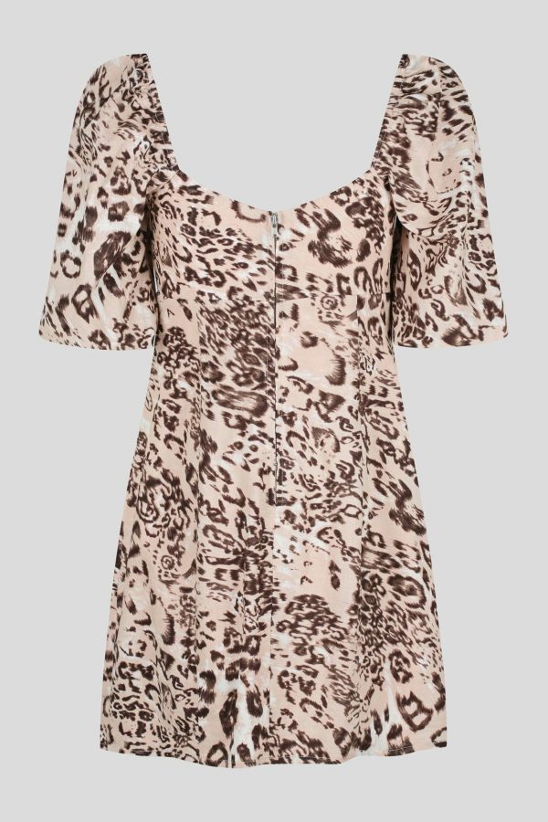 Maraba Dress Ladies Dress Colour is Blush Leopard Dress