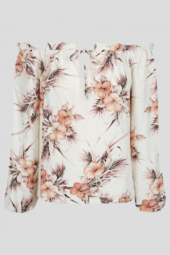 Arancia Top Ladies Top Colour is White Floral Print