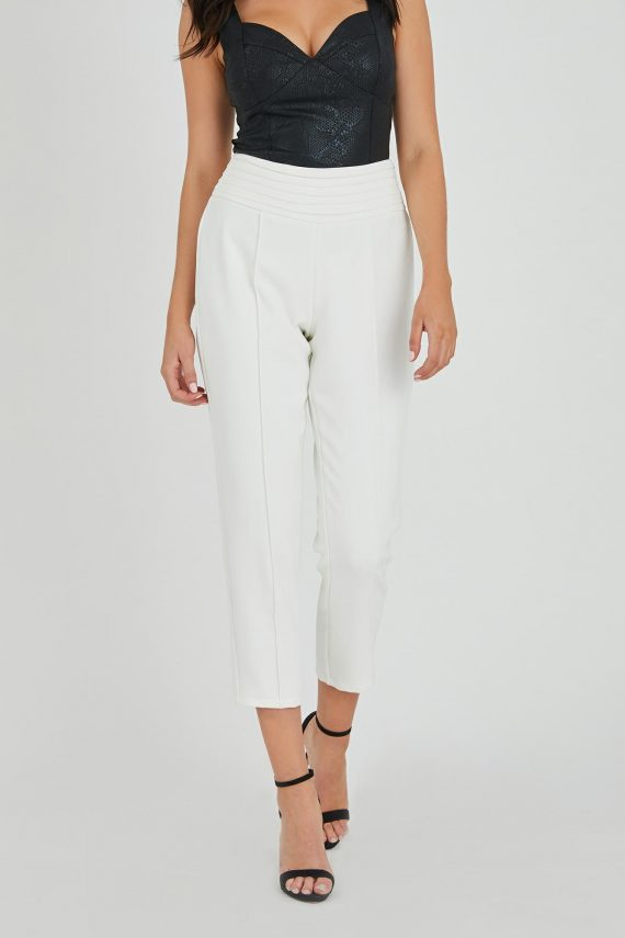 Domino Pant Ladies Pants Colour is White