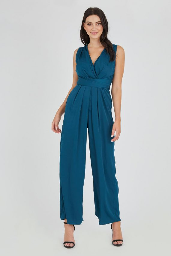Roulette Jumpsuit Ladies Jumpsuit Colour is Teal