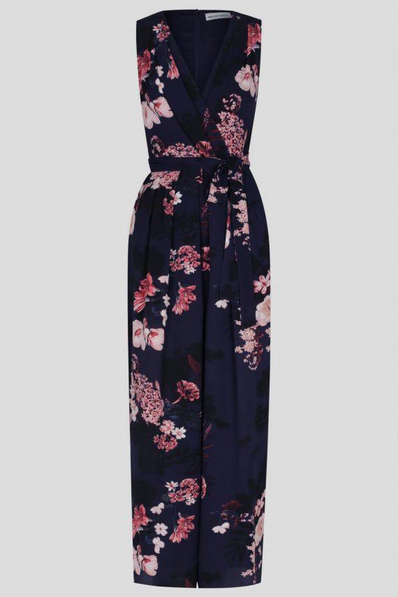 Carnation Jumpsuit Ladies Jumpsuit Colour is Navy Floral Print
