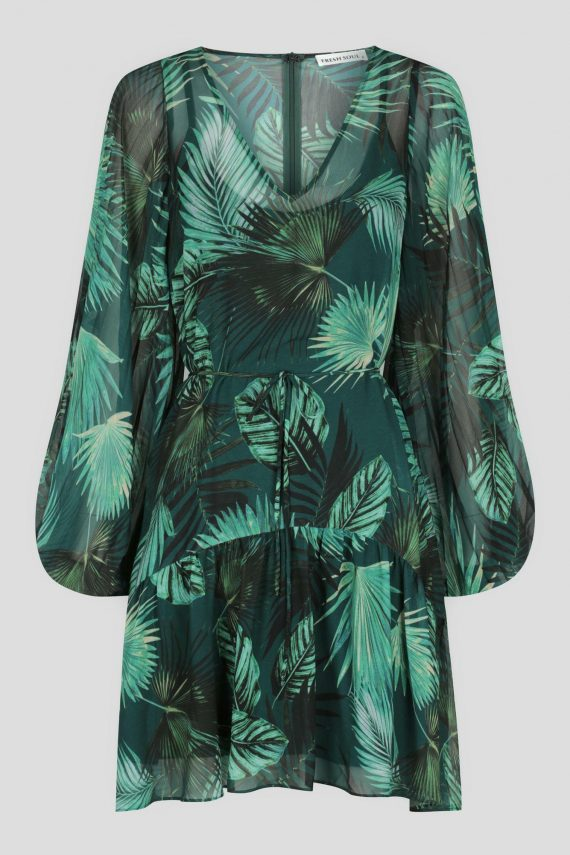 Teresina Dress Ladies Dress Colour is Jungle Palm Print