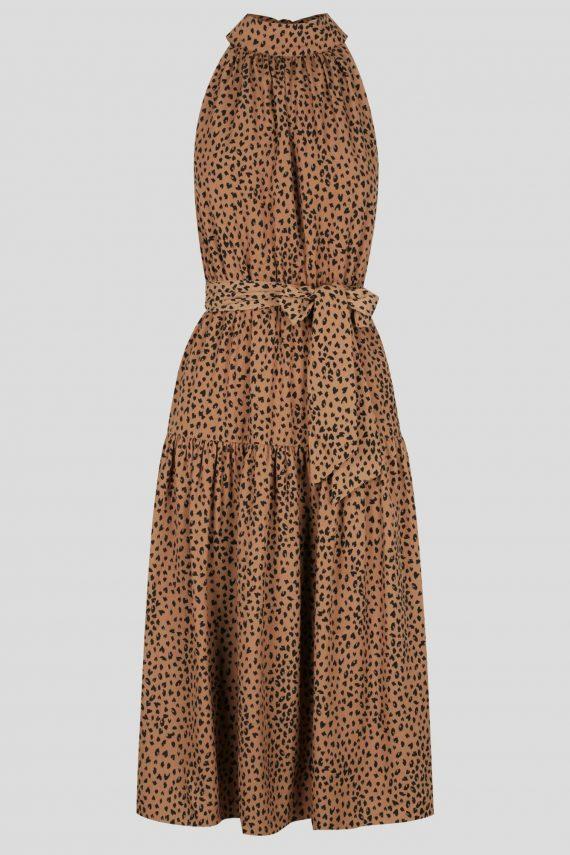 Brava Dress Ladies Dress Colour is Tan Spot