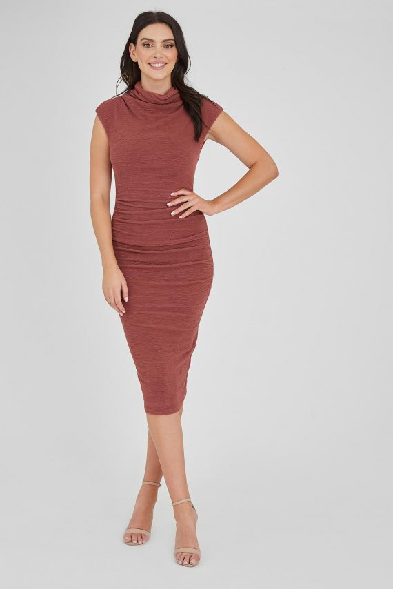 Contessa Dress Ladies Dress Colour is Copper