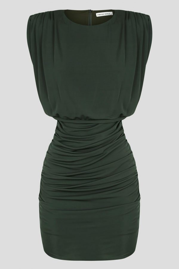 Pasmado Dress Ladies Dress Colour is Khaki