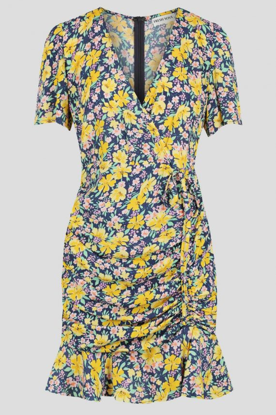 Floresta Dress Ladies Dress Colour is Blue Floral Print