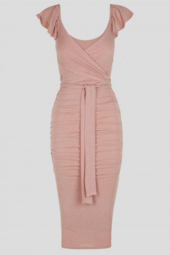 Majestic Dress Ladies Dress Colour is Blush