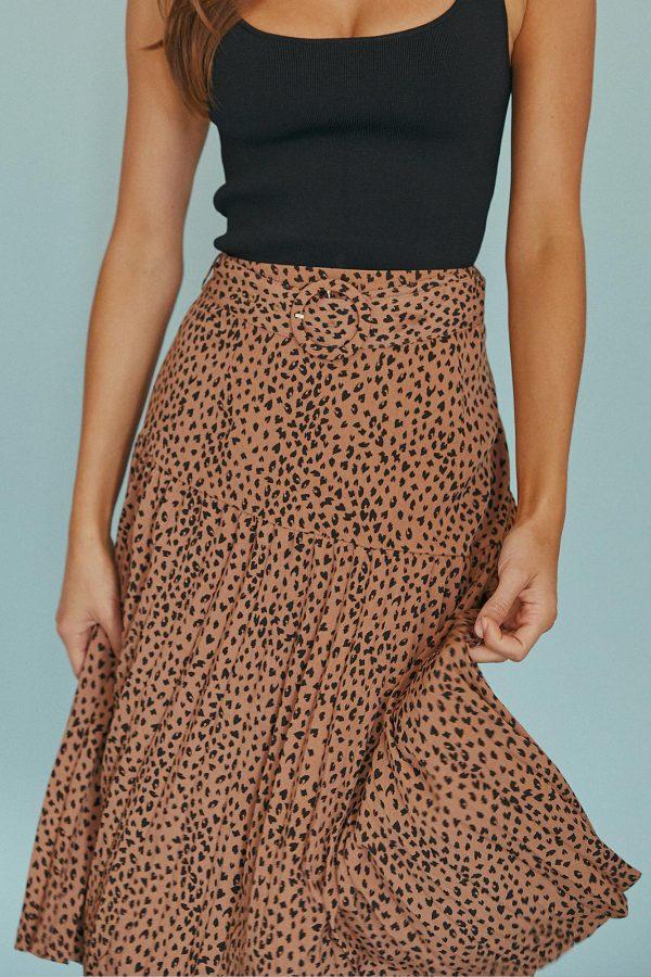 Brava Skirt Ladies Skirt Colour is Tan Spot