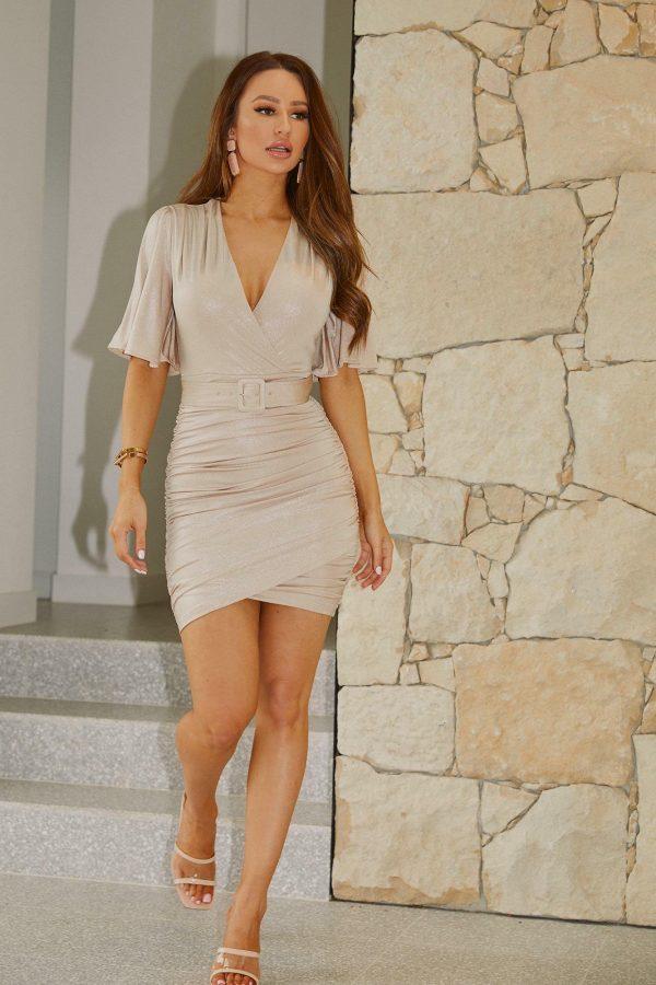 Estiva Dress Ladies Dress Colour is Gold