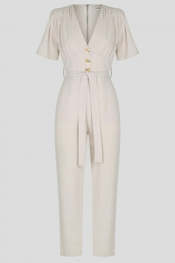 Osorio Jumpsuit Ladies Jumpsuit Colour is Beige