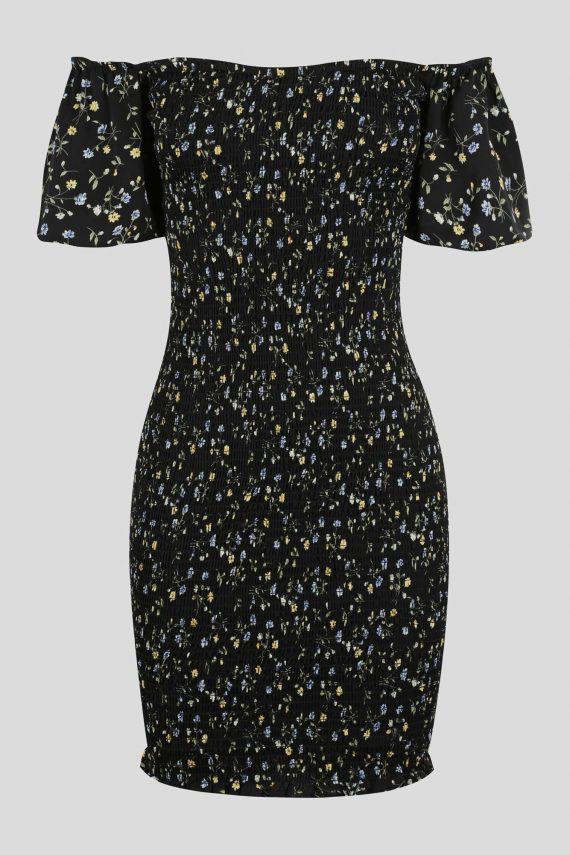 Visalia Dress Ladies Dress Colour is Black Floral Print
