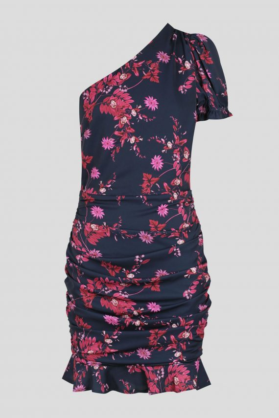 Zinnia Dress Ladies Dress Colour is Fuchsia Flowers Prin