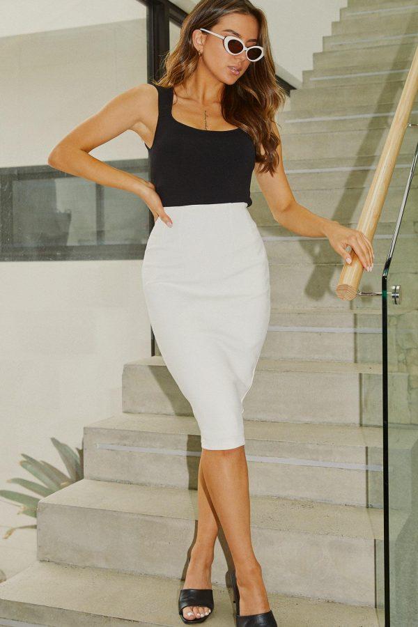 Pelota Skirt Ladies Skirt Colour is White