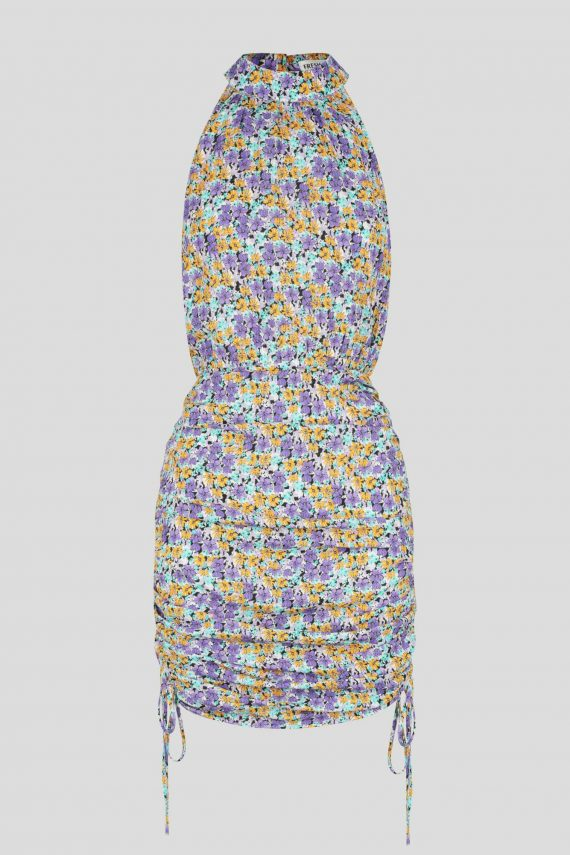 Acolita Dress Ladies Dress Colour is Purple Ditsy Print
