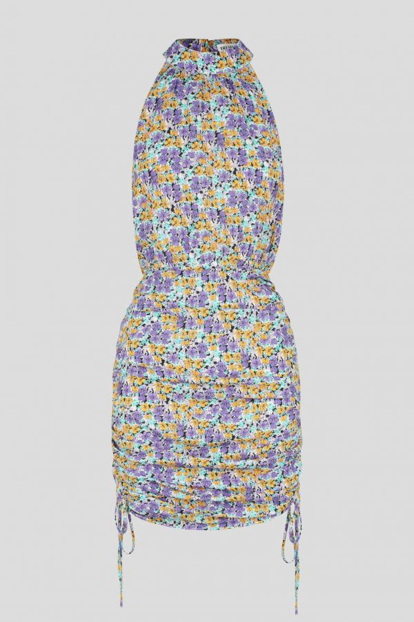 Acolita Dress Ladies Dress Colour is Purple Ditsy Print