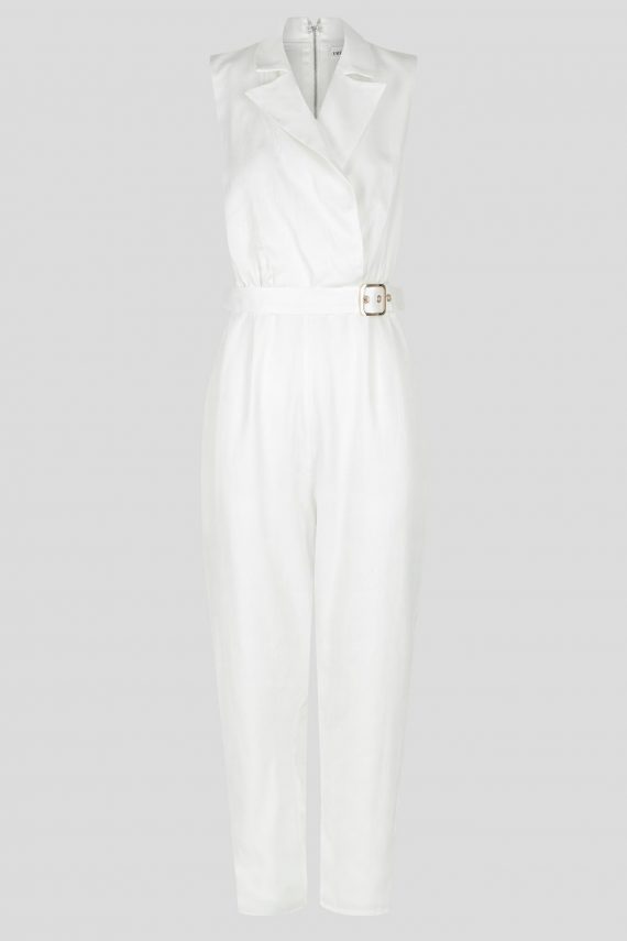 Carice Jumpsuit Ladies Dress Colour is White