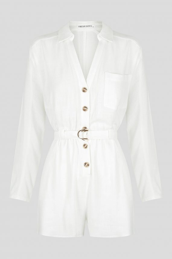 California Playsuit Ladies Jumpsuit Colour is White