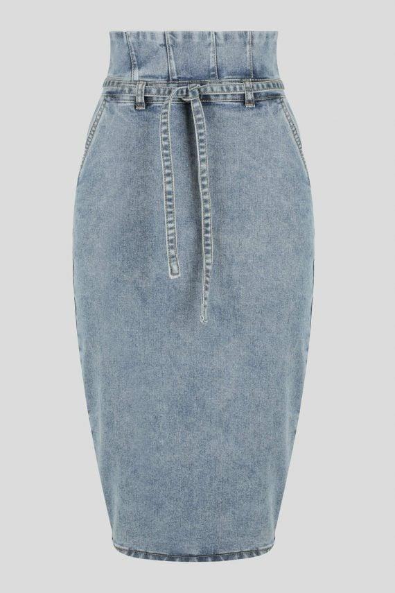 Masala Denim Skirt Ladies Skirt Colour is Blue
