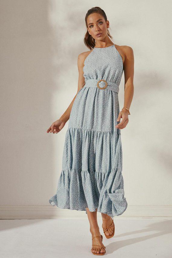Quinta Dress Ladies Dress Colour is Blue Spot