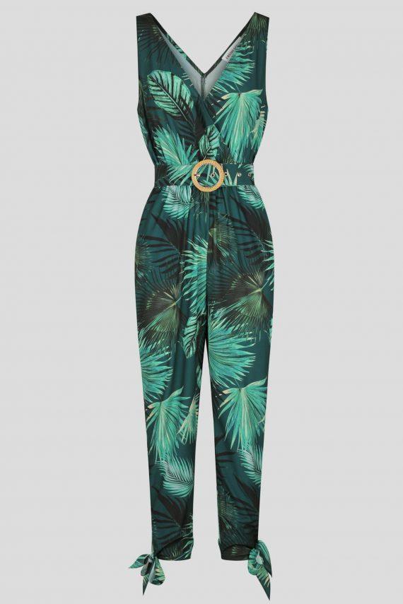 Jungle Palm Jumpsuit Ladies Skirt Colour is Jungle Palm Print