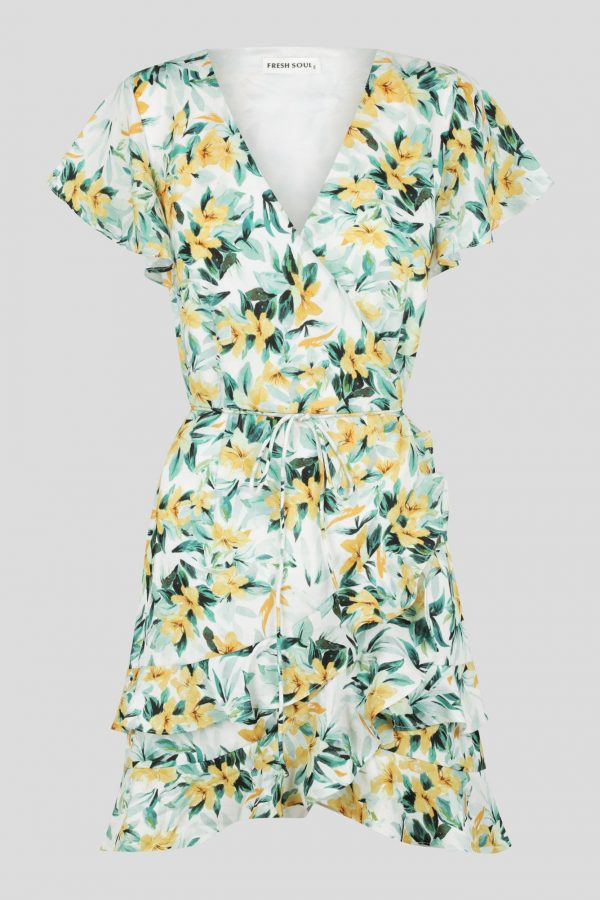 Amelia Wrap Dress Ladies Dress Colour is Amelia Print