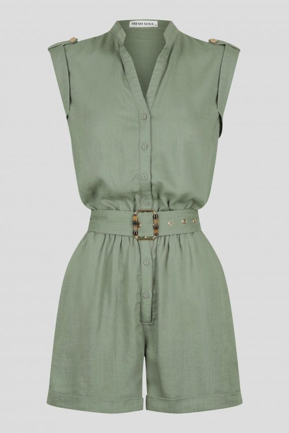 Merida Playsuit Ladies Jumpsuit Colour is Khaki