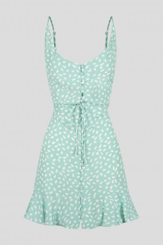 Armona Dress Ladies Dress Colour is Mint Spot