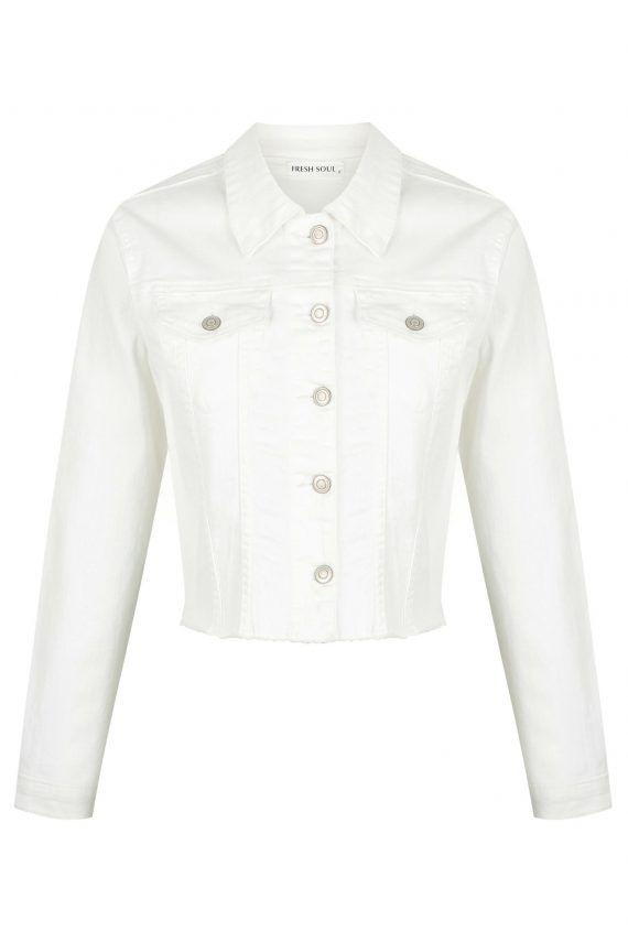 Reseda Denim Jacket Ladies Jacket Colour is White