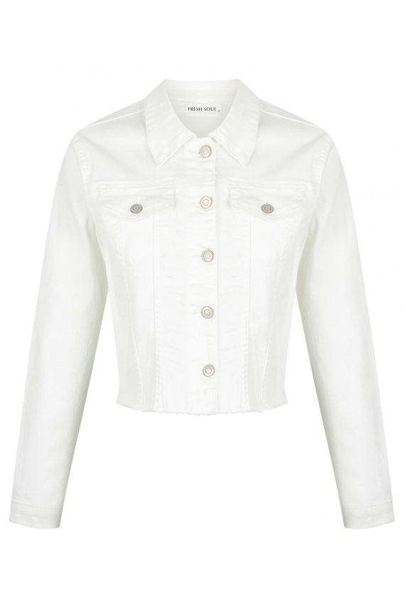 Reseda Denim Jacket Ladies Jacket Colour is White