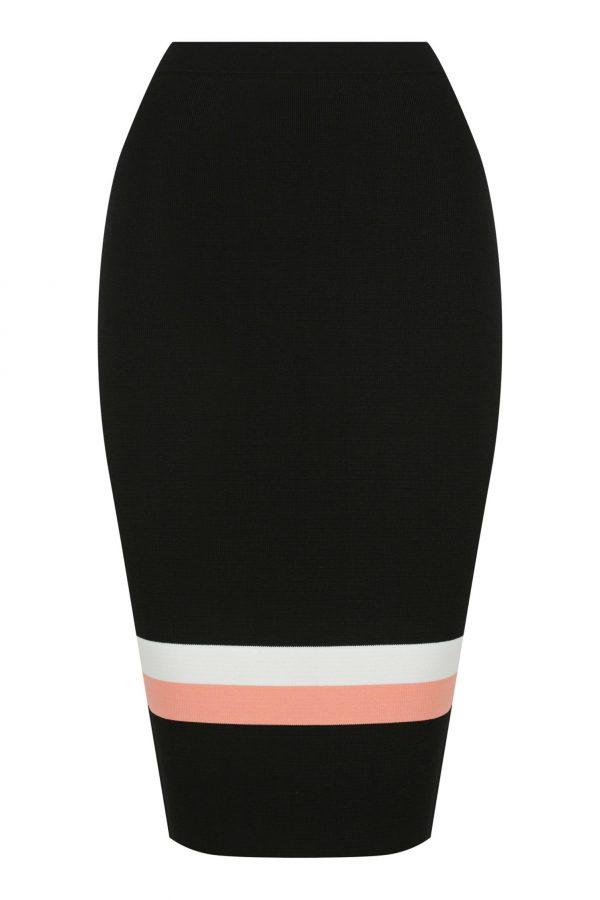 Pluma Knit Skirt Ladies Skirt Colour is Multi Stripe