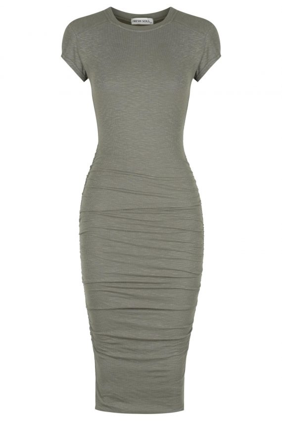 Lomita Dress Ladies Dress Colour is Khaki