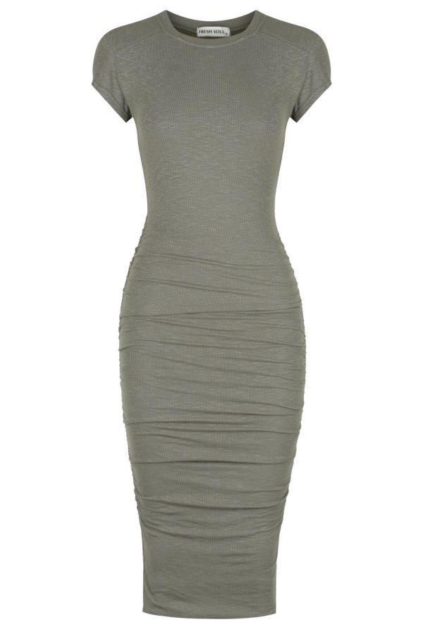 Lomita Dress Ladies Dress Colour is Khaki