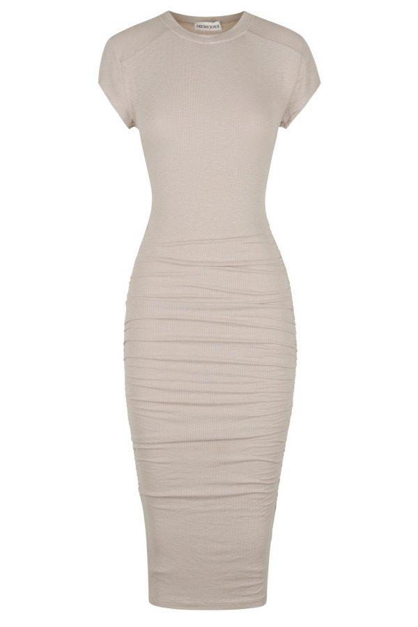 Lomita Dress Ladies Dress Colour is Nude