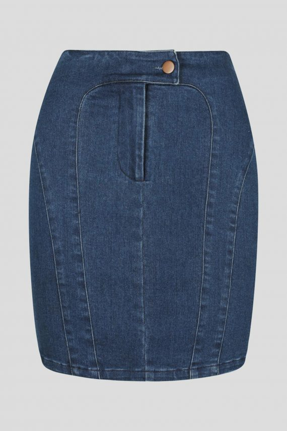 Azulado Skirt Ladies Skirt Colour is Dark Denim