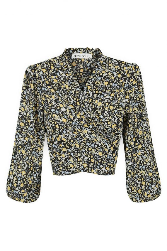 Coachella Top Ladies Top Colour is Black Floral Print