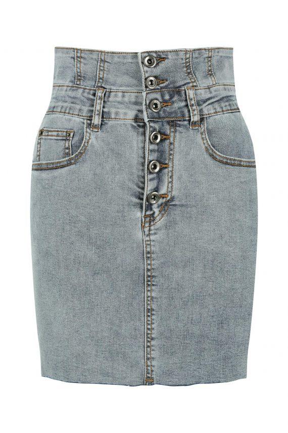 Lakeside Mini Denim Skirt Ladies Skirt Colour is Blue